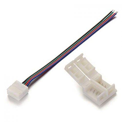 Clema+cablu conector banda LED RGB
