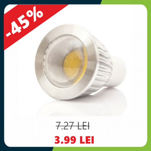 Bec Led Gu10, model R50, 5W, lumina neutra