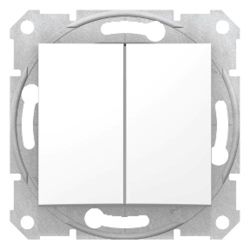 Intrerupator dublu alb Sedna Schneider SDN0300121 - 1 modul