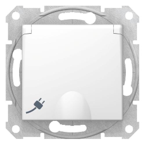 Priza 2P+E simpla, cu capac si obturatoare Sedna Schneider SDN3100121 - 1 modul