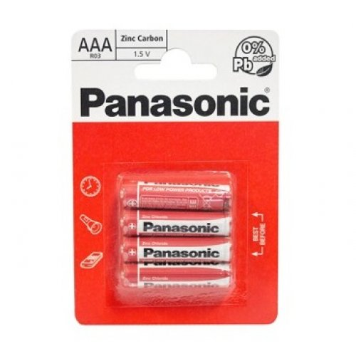 Baterie Panasonic R3 (tip AAA)