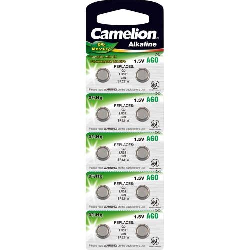 Baterii alcaline Camelion AG0 (LR63) - blister de 10 buc