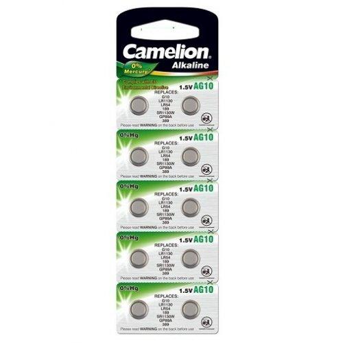 Baterii alcaline Camelion AG10 (LR1130) - blister de 10 buc