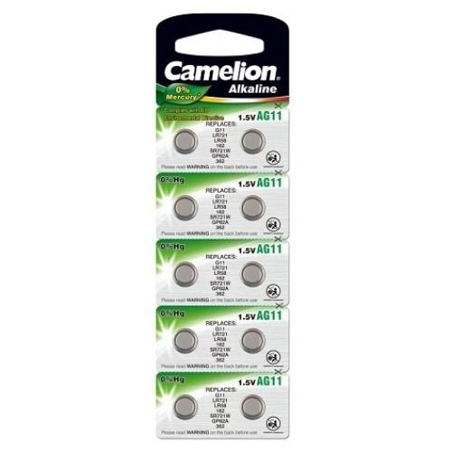 Baterii alcaline Camelion AG11 (LR721) - blister de 10 buc