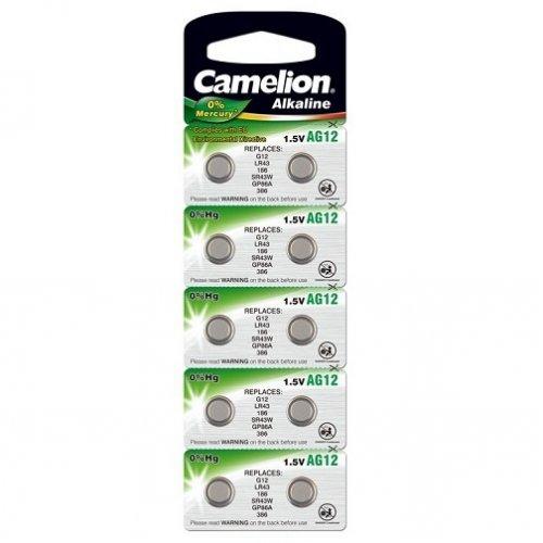 Baterii alcaline Camelion AG12 (LR43) - blister de 10 buc
