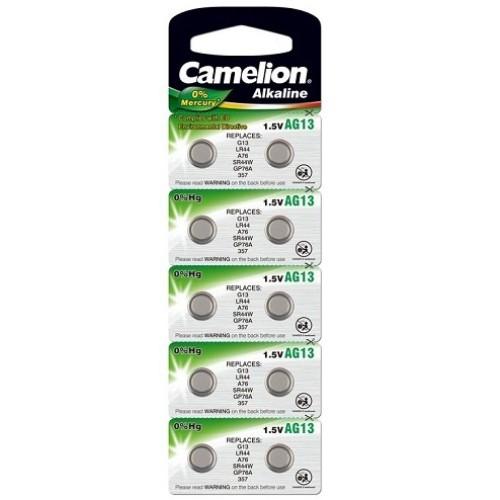 Baterii alcaline Camelion AG13 (LR44) - blister de 10 buc