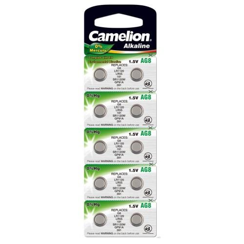 Baterii alcaline Camelion AG8 - blister de 10 buc