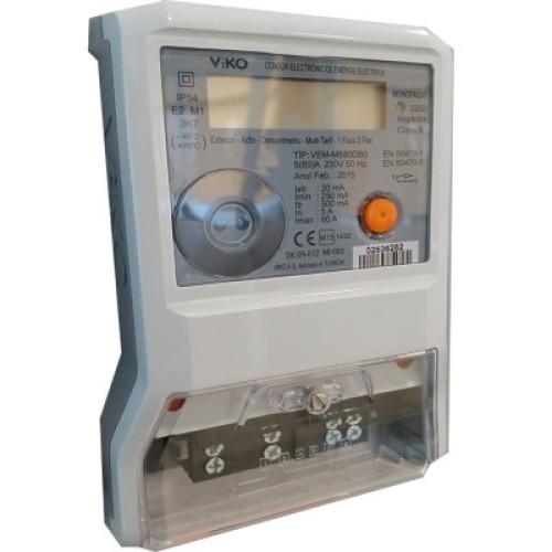 Contor Electronic Monofazic 230VAC 80A VIKO