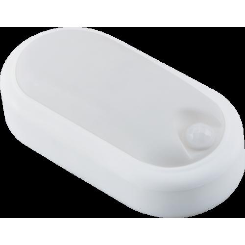 Aplica LED ovala de exterior cu senzor de miscare 360°, 8W=60W, 650Lm, IP65