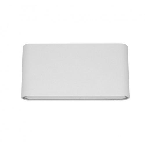 Aplica LED de exterior extra-plata, 12W=75W, 3000K, lumina calda, IP65