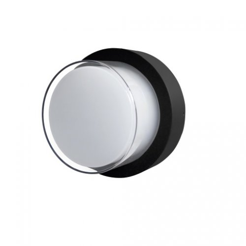 Aplica LED de exterior rotunda, 12W=75W, 3000K, lumina calda, IP65