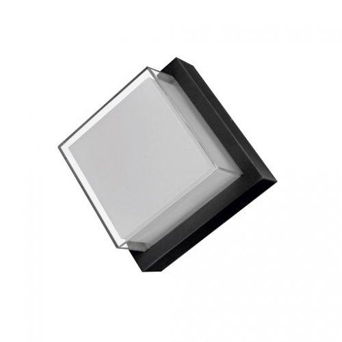 Aplica LED de exterior patrata, 12W=75W, 3000K, lumina calda, IP65