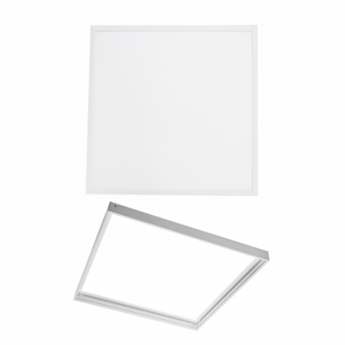 Pachet Panou Led Slim 595x595mm, 40W + Kit Montare Panou Aplicat, 600x600