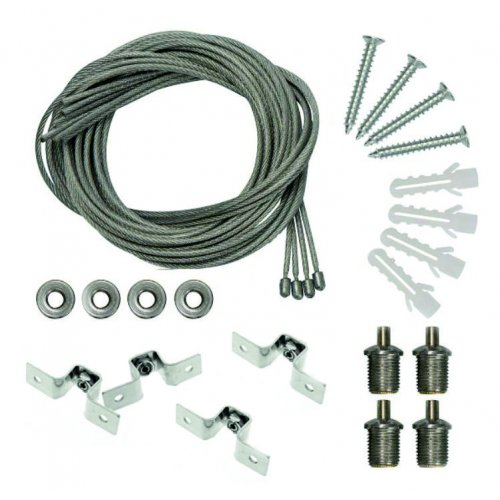 Kit Montare Panou Suspendat Fir Metalic 1m - set 4Buc