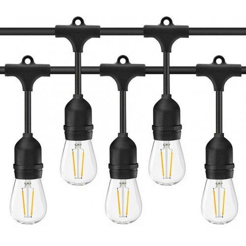 Ghirlanda luminoasa cu pendule, interconectabil, E27, IP65, 10m