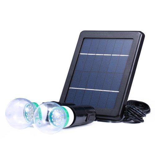 Kit 2 x Bec Led 3W Cu Panou Solar
