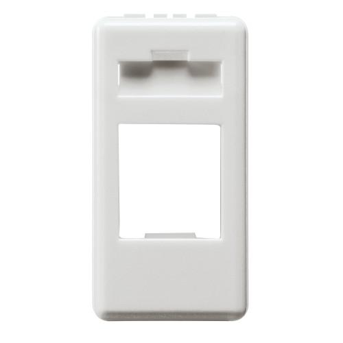 Carcasa adaptor RJ45 CAT5 (UTP) Gewiss GW20270, alb - 1 modul
