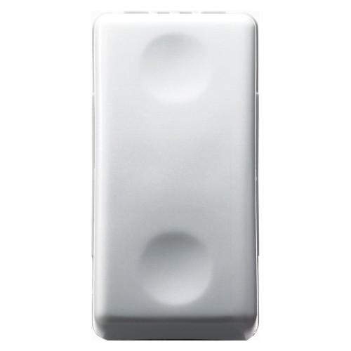Intrerupator modular cu revenire Gewiss GW20510, alb - 1 modul