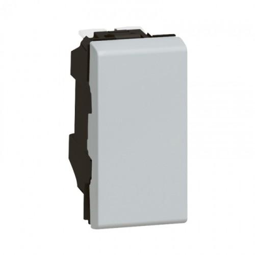 Intrerupator simplu, aluminiu Legrand Mozaic 079230 - 1 modul