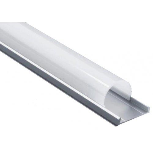 Profil banda LED  convex, montaj aplicat, aluminiu, 1m