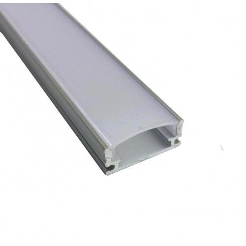 Profil banda LED usor convex, montaj aplicat, aluminiu, lungime 1 m