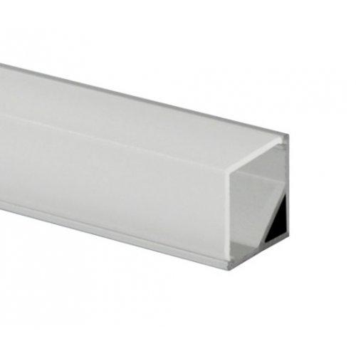 Profil banda LED, montaj aplicat pe colt, aluminiu, 1m
