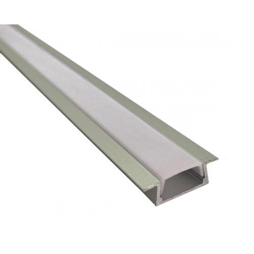 Profil banda LED, montaj incastrat, aluminiu, 1 m