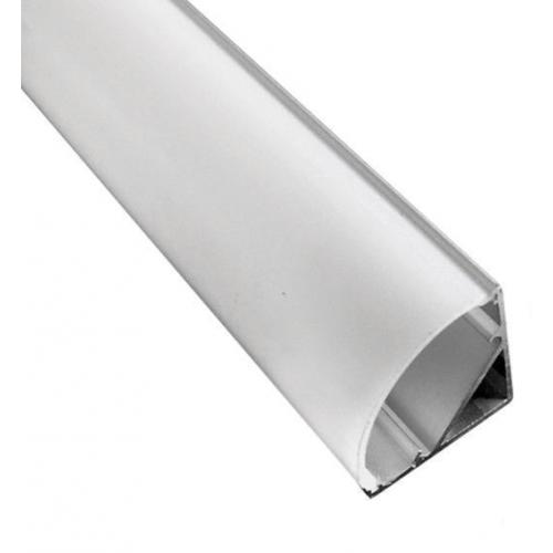 Profil banda LED, montaj pe colt, aluminiu, 1 m