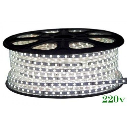 Banda LED 220V 2700K, 4.8W/m, Ip65, 60Led/M 2835