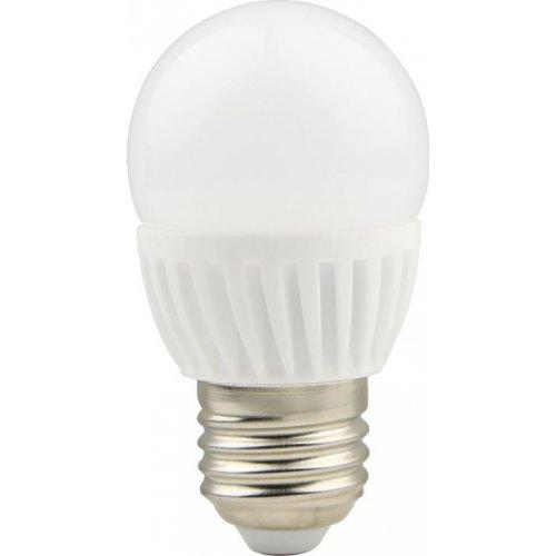 Bec LED cu baza din ceramica, model G45, dulie E27, 9W=75W, 2700K, lumina calda