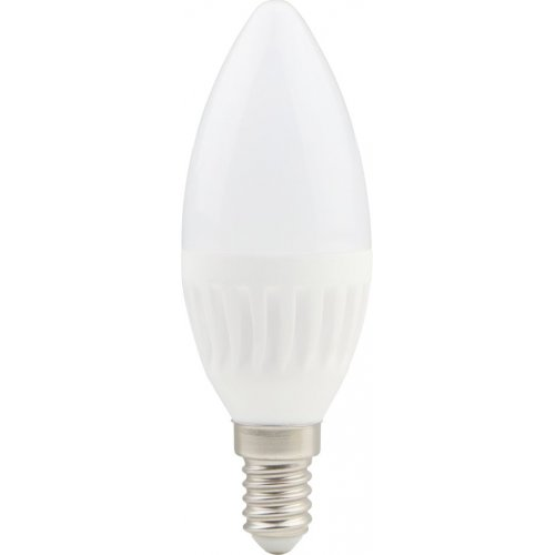 Bec LED lumanare cu baza din ceramica, model C37, dulie E14, 9W=75W, 2700K, lumina calda