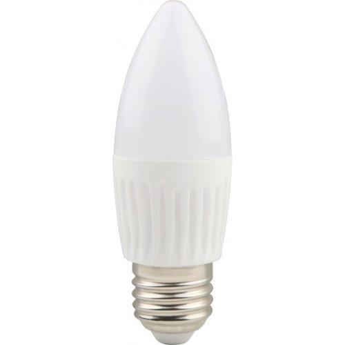Bec LED lumanare cu baza din ceramica, model C37, dulie E27, 9W=75W, 2700K, lumina calda
