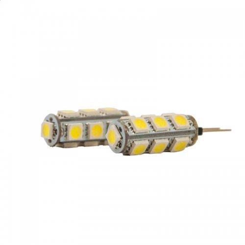 Bec Led model G4, 3.2W=20W, 12V, 2700K, lumina calda - set 2 Buc