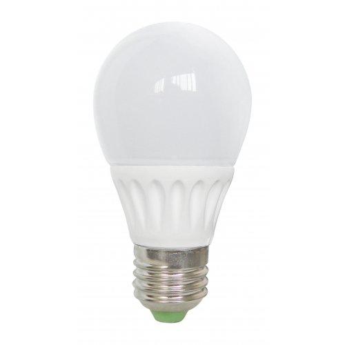 Bec Led E27, model glob A55, 5W=45W, lumina calda