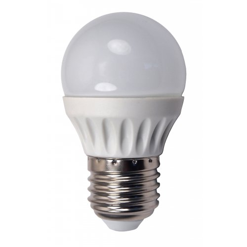 Bec Led Sferic E27, model glob G45, 5W=45W, lumina calda